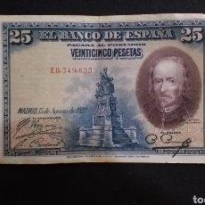 Banconote spagnole: BILLETE DE 25 PESETAS ESPAÑA AÑO 1928. Lote 273538188