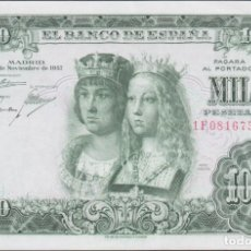 Billetes españoles: BILLETES ESPAÑOLES-ESTADO ESPAÑOL 1000 PESETAS 1957 (SERIER 1F) (EBC+). Lote 274218238