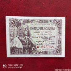 Billetes españoles: 1 PESETA 1945 SERIE M!. Lote 274305163