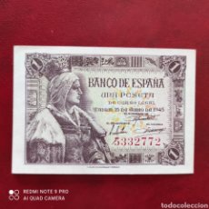 Billetes españoles: 1 PESETA 1945 SIN SERIE! SC. Lote 274305188