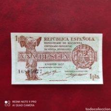 Billetes españoles: 1 PESETA 1937 SC SERIE A!. Lote 274305503
