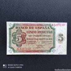 Billetes españoles: 5 PESETAS 1938 SERIE A!. Lote 274305698