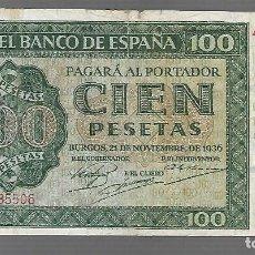 Billetes españoles: BILLETES DE ESPAÑA FRANCO 1936 BURGOS LOS QUE VES. Lote 275567318