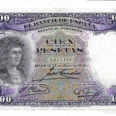Billetes españoles: BILLETES DE ESPAÑA II REPUBLICA LOS QUE VES BILLETE DE 100 PESETAS. Lote 275568128