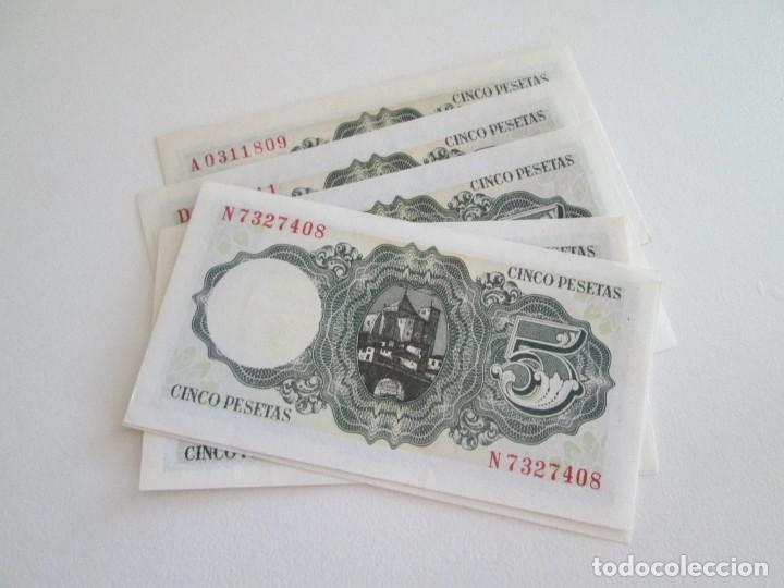 Billetes españoles: BILLETE * 5 PESETAS 16 DE AGOSTO DE 1951 * SC * LOTE DE 7 BILLETES - Foto 2 - 275793933