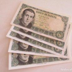 Billetes españoles: BILLETE * 5 PESETAS 16 DE AGOSTO DE 1951 * SC * LOTE DE 7 BILLETES. Lote 275793933