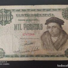 Billetes españoles: 1000 PESETAS DE 1946.... PRECIOSO Y MUY ESCASO......ES EL DE LAS FOTOS. Lote 276160573