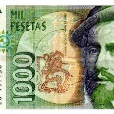 Billetes españoles: BILLETE DE ESPAÑA DE 1000 PESETAS DE 1992 CIRCULADO. Lote 276621983