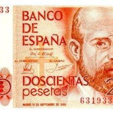 Billetes españoles: BILLETE DE ESPAÑA DE 200 PESETAS DE 1980 CIRCULADO. Lote 276622123