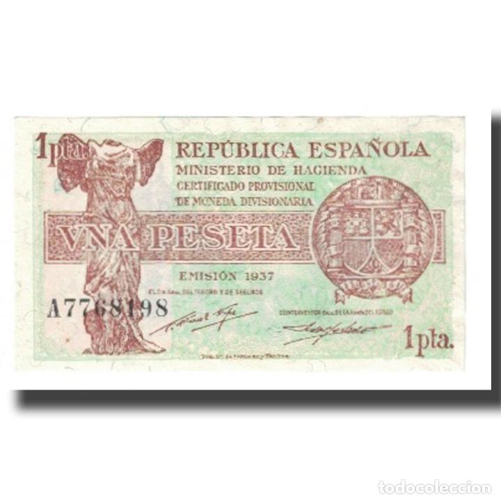 [#176144] BILLETE, 1 PESETA, 1937, ESPAÑA, KM:94, MBC (Numismática - Notafilia - Billetes Españoles)