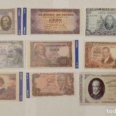 Billetes españoles: 9 BILLETES BANCO DE ESPAÑA FACSIMIL/COPIA - COLECCION EDICIONES GRUPOJOLY - 2001. Lote 277011423