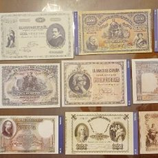 Billetes españoles: 12 BILLETES BANCO DE ESPAÑA FACSIMIL/COPIA - COLECCION EDICIONES GRUPOJOLY - 2001. Lote 277013328