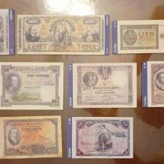 Billetes españoles: 10 BILLETES BANCO DE ESPAÑA FACSIMIL/COPIA - COLECCION EDICIONES GRUPOJOLY - 2001. Lote 277015668