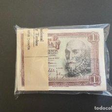 Billetes españoles: 1 PESETA 1953 TACO DE CIEN BILLETES SIN CIRCULAR Y CORRELATIVOS L-10. Lote 277017413