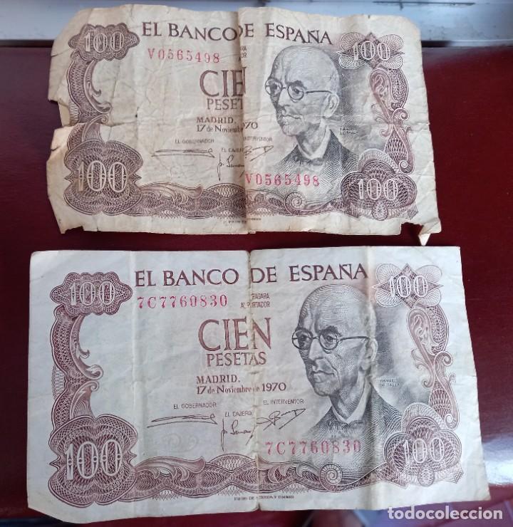2 BILLETES DE 100 PESETAS (Numismática - Notafilia - Billetes Españoles)