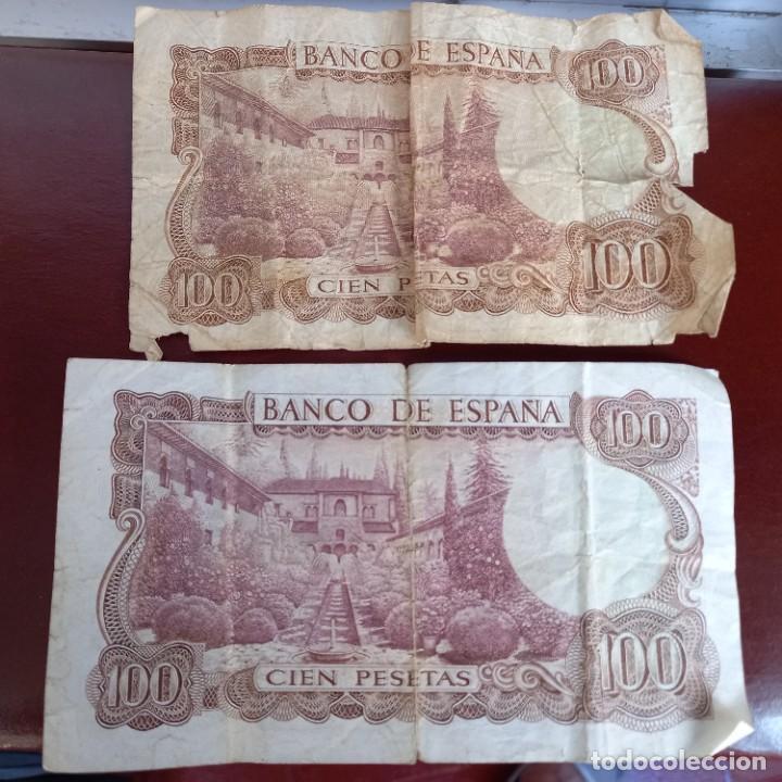 Billetes españoles: 2 billetes de 100 pesetas - Foto 2 - 277065373