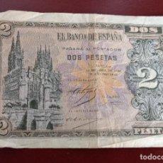 Billetes españoles: BILLETE DE 2 PESETAA. Lote 277065773