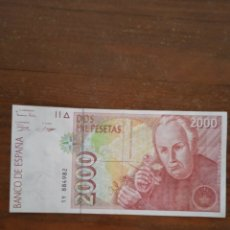 Billetes españoles: BILLETE DE ESPAÑA 2000 PESETAS. Lote 277090818