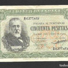 Billetes españoles: 50 PESETAS 1940 SERIE B EBC-. Lote 277133058