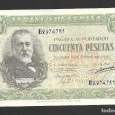 Billetes españoles: 50 PESETAS 1940 SERIE B EBC. Lote 277133248