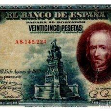 Billetes españoles: BILLETE DE ESPAÑA DE 25 PESETAS DE 1928 CIRCULADO. Lote 277419448