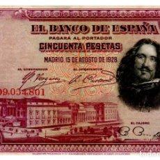 Billetes españoles: BILLETE DE ESPAÑA DE 50 PESETAS DE 1928 CIRCULADO. Lote 277419508