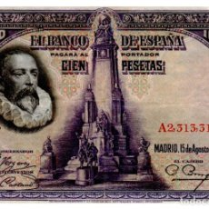 Billetes españoles: BILLETE DE ESPAÑA DE 100 PESETAS DE 1928 CIRCULADO. Lote 277419593