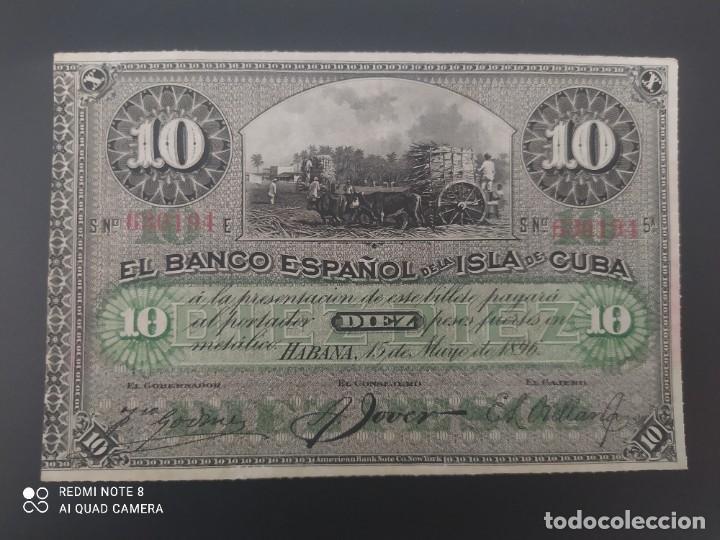 10 PESOS DE 1896....BANCO DE ESPAÑA EN CUBA....PRECIOSO......ES EL DE LAS FOTOS (Numismática - Notafilia - Billetes Españoles)