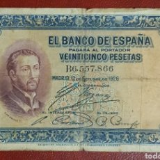 Billetes españoles: BILLETE DE 25 PESETAS, SAN FRANCISCO JAVIER, 1926 - SERIE B.. Lote 278640778