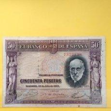 Billetes españoles: BILLETE ESPAÑA 50 PTS 1935 - SIN SERIE. Lote 278929908