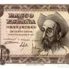 Billetes españoles: BILLETE DE ESPAÑA DE 1 PESETA DE 1951 CIRCULADO. Lote 279528048