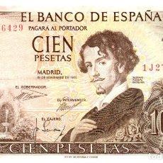 Billetes españoles: BILLETE DE ESPAÑA DE 100 PESETAS DE 1965 CIRCULADO. Lote 279528413
