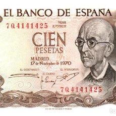 Billetes españoles: BILLETE DE ESPAÑA DE 100 PESETAS DE 1970 CIRCULADO. Lote 279528483
