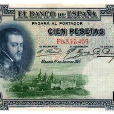 Billetes españoles: BILLETE DE ESPAÑA DE 100 PESETAS DE 1925 CIRCULADO. Lote 279528583