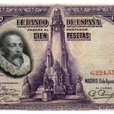 Billetes españoles: BILLETE DE ESPAÑA DE 100 PESETAS DE 1928 CIRCULADO. Lote 279528678