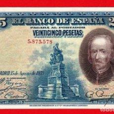 Billetes españoles: 25 PESETAS, 1928 ''CALDERON DE LA BARCA'' SIN SERIE, SC-, MUY ESCASO ASI. Lote 279548478