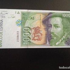Billetes españoles: JUAN CARLOS I 1000 PESETAS 1.992 PLANCHA Y SIN SERIE. (B9). Lote 279554258