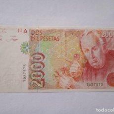 Billetes españoles: JUAN CARLOS I 2000 PESETAS 1992 PLANCHA Y SIN SERIE. (B40). Lote 279555118