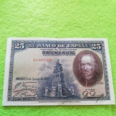 Notas espanholas: UN BILLETE DE 25 PESETAS DE 1928. MUY BIEN CONSERVADO.. Lote 280300588