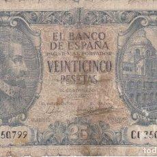 Billets espagnols: BILLETE DE 25 PESETAS DEL AÑO 1940 DE JUAN DE HERRERA SERIE C. Lote 285284323