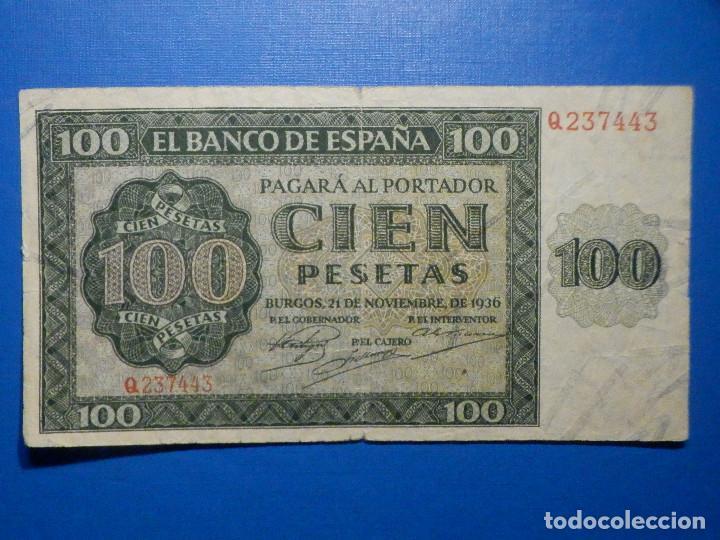 BILLETE 100 PTS - PESETAS - 1936 21 NOVIEMBRE ESTADO ESPAÑOL BURGOS GIESECKE DEVRIENT (Numismática - Notafilia - Billetes Españoles)
