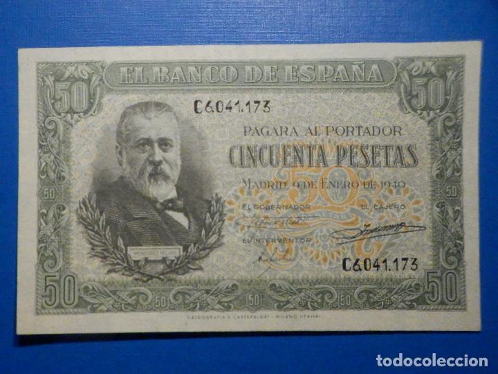 BILLETE 50 PTS 1940 9 ENERO ESTADO ESPAÑOL MENENDEZ PELAYO PESETAS NUMISBAZAR (Numismática - Notafilia - Billetes Españoles)