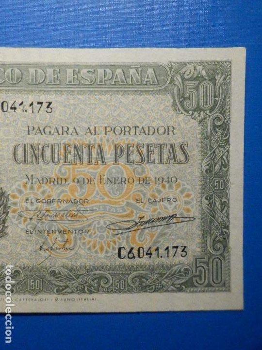 Billetes españoles: Billete 50 Pts 1940 9 Enero Estado Español Menendez Pelayo Pesetas NumisBazar - Foto 3 - 34267020