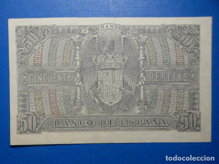 Billetes españoles: Billete 50 Pts 1940 9 Enero Estado Español Menendez Pelayo Pesetas NumisBazar - Foto 4 - 34267020