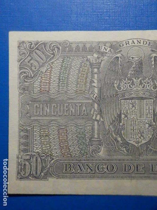 Billetes españoles: Billete 50 Pts 1940 9 Enero Estado Español Menendez Pelayo Pesetas NumisBazar - Foto 5 - 34267020
