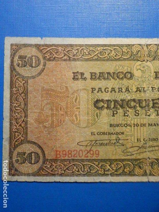 Billetes españoles: Billete 50 Pts - Pesetas - 1938 20 Mayo Estado Español Burgos Giesecke Devrient - Foto 2 - 34267560