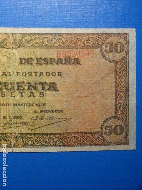 Billetes españoles: Billete 50 Pts - Pesetas - 1938 20 Mayo Estado Español Burgos Giesecke Devrient - Foto 3 - 34267560
