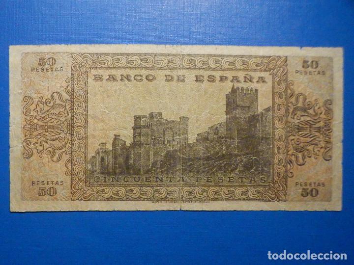 Billetes españoles: Billete 50 Pts - Pesetas - 1938 20 Mayo Estado Español Burgos Giesecke Devrient - Foto 4 - 34267560