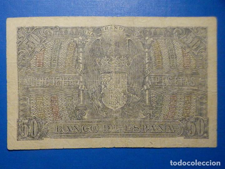 Billetes españoles: BILLETE 50 PTS 1940 - 9 ENERO - ESTADO ESPAÑOL MENENDEZ PELAYO PESETAS - Foto 4 - 35731867
