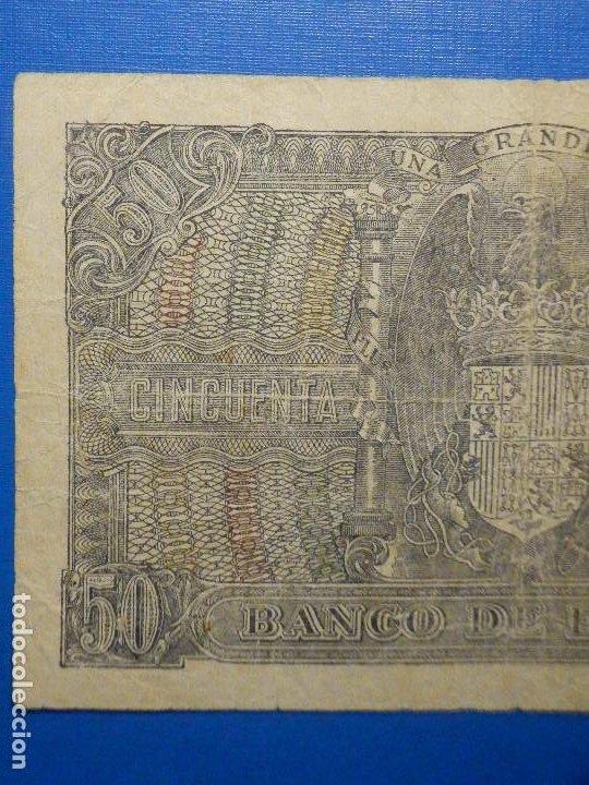 Billetes españoles: BILLETE 50 PTS 1940 - 9 ENERO - ESTADO ESPAÑOL MENENDEZ PELAYO PESETAS - Foto 5 - 35731867